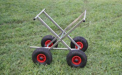 Carro de altura regulable de acero inoxidable