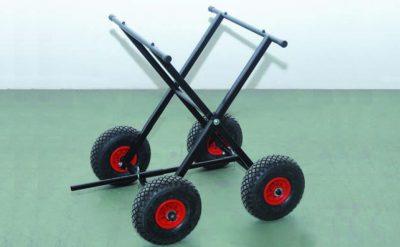Carro de altura regulable negro